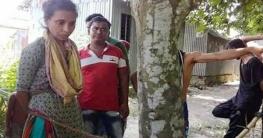 ছেলেধরা সন্দেহে মানসিক ভারসাম্যহীন নারীকে গাছে বেঁধে নির্যাতন