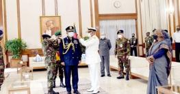 এয়ার মার্শাল র্যাঙ্ক ব্যাজ পরলেন নতুন বিমানবাহিনী প্রধান