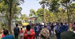 শিবচরে শেখ হাসিনা হাইটেক পার্কের স্থানের অবৈধ স্থাপনা উচ্ছেদ