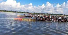 মুজিববর্ষ উপলক্ষে রাজৈরে বিশাল নৌকা বাইচ