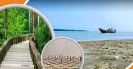 সমুদ্রের মৃদু ঢেউ, বালুময় দীর্ঘ সৈকত, ঝাউবনের সবুজ সমীরণ একসঙ্গে